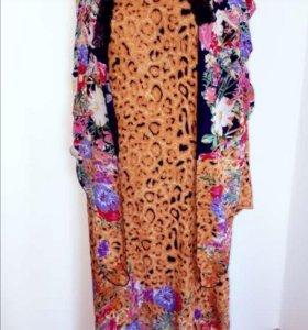 Платья из штапеля с платком