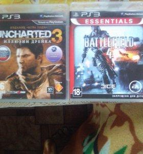 Игры для PS3 UNCHARTED3 иллюзии дрейка,BATLEFIELD4