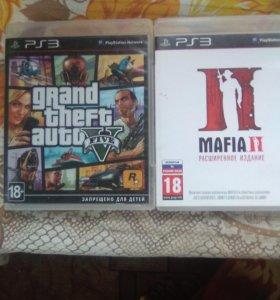 Игры для PS3 ГТА5 и MAFIA II расширенное издание