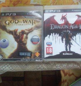 Игры для PS3 DRAGON AGE II и GODofWAR восхождение