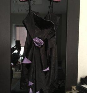 Вечернее шёлковое платье