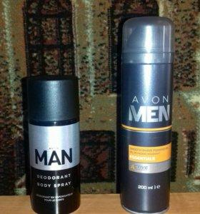 Гель для бритья и дезодорант для мужчин