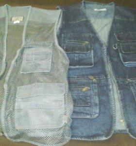 жилетка джинсовая и в сетку