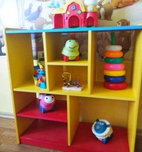 Открытый шкаф для игрушек и книг,торг