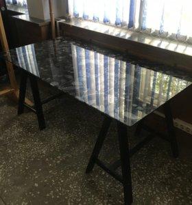 IKEA стол стеклянный