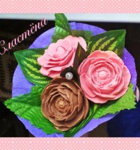 Букеты из шоколада, шоколадные цветы