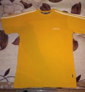 Adidas футболка винтажная муж.ориг.раз.(M-L)