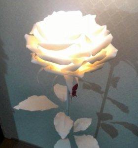 Светильники и цветы из фома и изолона!