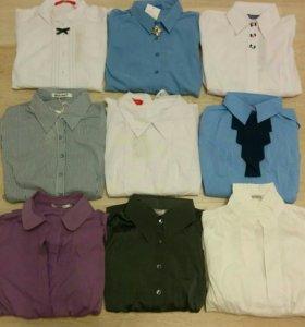 Новые блузки рубашки р.42