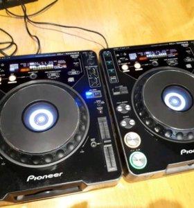 Cdj 1000 mk2 pioneer 2шт