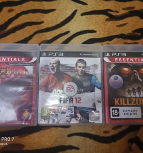God of war, fifa12, killzone 2