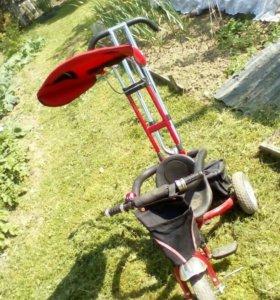 Детский велосипед коляска с тростью