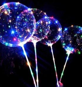 Светящиеся шары Бобо гелевые