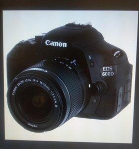 Фотоаппарат canon 600d, объектив 18-55mm
