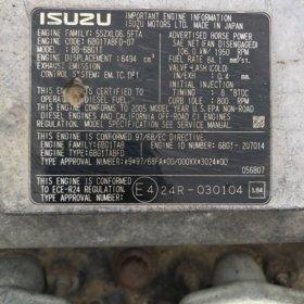 Запчасти б/у 6-ти цили-вый мотор ISUZU (BB-6BG 1T)