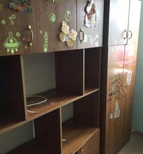 Шкаф с антресолью детский