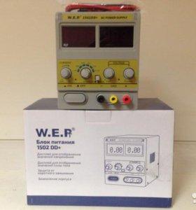 W.E.P 1502DD+ лабораторный источник питания новый