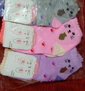 Новые детские носочки для девочек , размер 26-31
