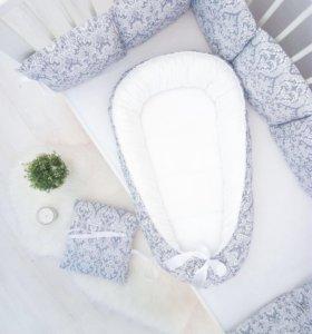 Подушка, кокон, конверт, бортики