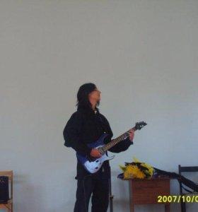 уроки игры на гитаре (электрогитаре)