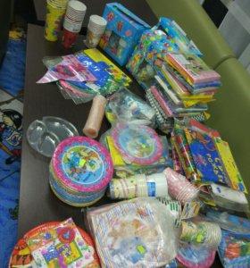 Одноразовая посуда и прочее для детского праздника