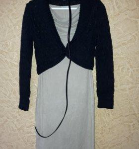 Новый комплект, платье+кофта