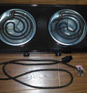 Плита электрическая 2-конфорочная настольная