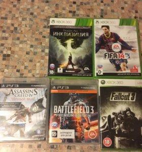Игры для Xbox 360 и ps3 (все по 300)