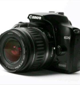 Canon 1000d + сумка + флешка