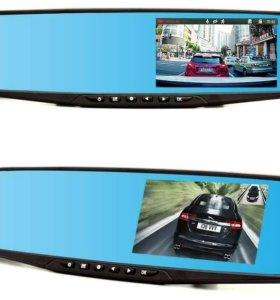 Видеорегистратор с двумя камерами в виде зеркало