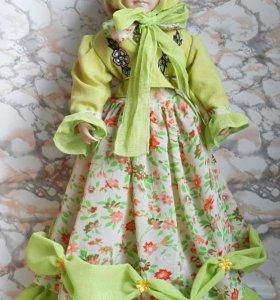 Игрушки, кукла фарфоровая Элен. Весна. Ретро кукла