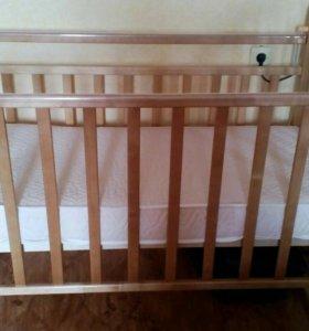 Кроватка+ матрас