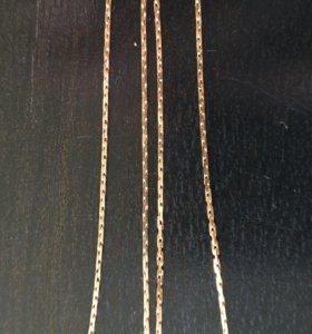 Золотая цепочка,квадратное плетение
