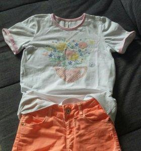 Шорты Zara и футболка