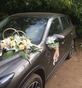 Свадебное украшение для авто