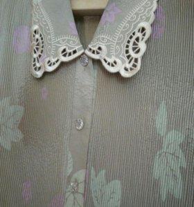 Блузка и пиджак 58-60