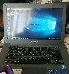 Новый ноутбук irbis NB60- Full HD IPS экран, 4 ядр