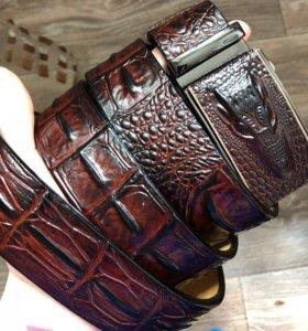 Новый пояс из натуральной кожи в стиле Lacoste
