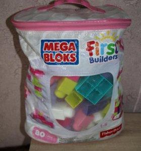 Конструктор Mega Bloks Сумка Эко 80 Дет розовый
