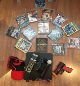 PS3 + диски + аксессуары