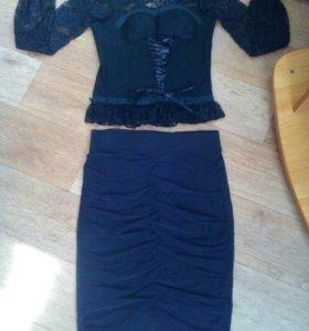 Гипюровая кофта+юбка