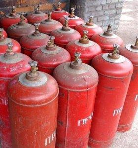 Газ пропан в баллонах
