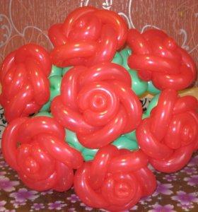 Цветы из воздушных шаров, букеты и фигуры