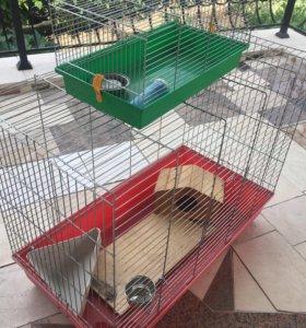 2 клетки для животных