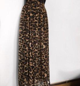 Новая брендовая шифоновая юбка