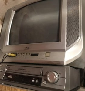 Телевизор и в/магнитофон