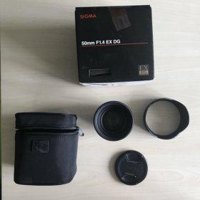 Объектив SIGMA 50mm F1.4 EX DG для Nikon