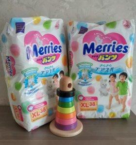 👍 Трусики Merries XL 12-22 кг 38 шт