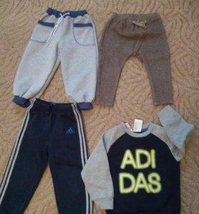 Аdidas, Zara. Спортивная одежда 92 р-р
