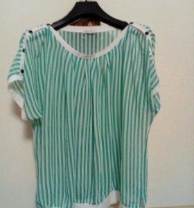 Новая легкая блузка и шорты 48-50